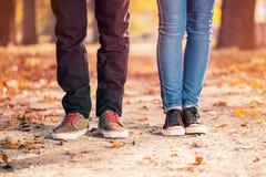 Coppie della gamba della donna dell'uomo Fotografia Stock Libera da Diritti