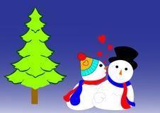 Coppie della neve royalty illustrazione gratis