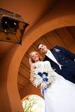 Coppie della persona appena sposata Fotografia Stock Libera da Diritti