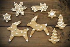 Coppie della renna con le stelle Fotografia Stock