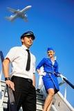 Coppie della squadra della cabina Immagine Stock