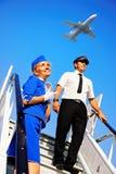 Coppie della squadra della cabina Fotografia Stock Libera da Diritti