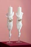 Coppie delle candele di nozze Immagine Stock