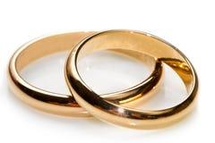 Coppie delle fedi nuziali dell'oro immagini stock libere da diritti