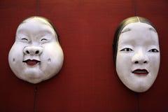 Coppie delle mascherine Immagine Stock