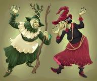 Coppie delle streghe per Halloween illustrazione di stock