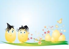 Coppie delle uova di Pasqua Immagini Stock Libere da Diritti