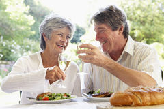 coppie di Al che mangiano il pasto dell'affresco Fotografie Stock