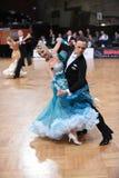 Coppie di ballo da sala, ballanti alla concorrenza Immagine Stock Libera da Diritti