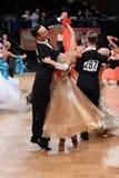 Coppie di ballo da sala, ballanti alla concorrenza Fotografia Stock Libera da Diritti