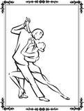 Coppie di ballo di tango Immagine Stock
