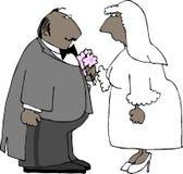 Coppie di cerimonia nuziale royalty illustrazione gratis