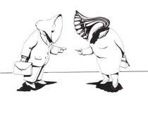 Coppie di conversazione illustrazione di stock
