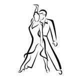 Coppie di Dancing? isolate su bianco Immagine Stock Libera da Diritti