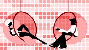 Coppie di flirt Immagine Stock