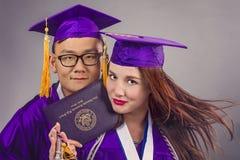 Coppie di graduazione Immagine Stock