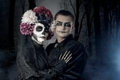 Coppie di Halloween fotografia stock libera da diritti