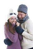 Coppie di inverno Fotografie Stock