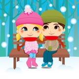 Coppie di inverno Fotografie Stock Libere da Diritti