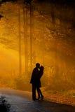 Coppie di Kisssing Fotografia Stock Libera da Diritti
