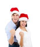 Coppie di Natale Fotografia Stock Libera da Diritti