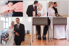 Coppie di nozze Fotografie Stock