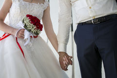 Coppie di nozze, fiore Fotografie Stock