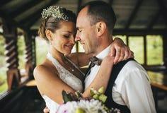 Coppie di nozze insieme Immagine Stock