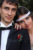 Coppie di nozze in natura Fotografie Stock Libere da Diritti