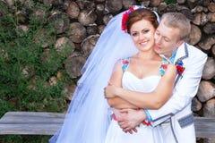 Coppie di nozze (sposate) l'ucraina fotografia stock libera da diritti