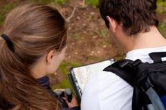 Coppie di Orienteering Fotografia Stock