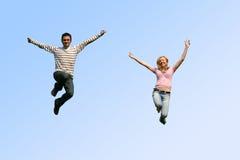 coppie di salto Fotografia Stock