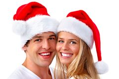 Coppie di Santa di Natale Immagini Stock