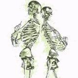 Coppie di scheletro Grungy illustrazione vettoriale