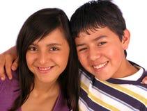 Coppie di sorridere dei fratelli Immagini Stock Libere da Diritti