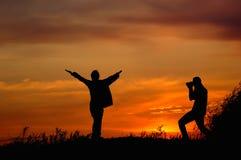 Coppie di tramonto Immagini Stock Libere da Diritti