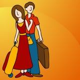 Coppie di viaggio illustrazione di stock