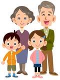 Coppie e nipoti più anziani illustrazione di stock