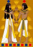 Coppie egiziane royalty illustrazione gratis