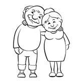 Coppie felici degli anziani Immagine Stock Libera da Diritti
