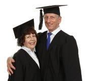 Coppie felici del laureato dell'anziano Immagine Stock