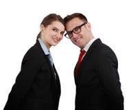 Coppie felici di affari Immagine Stock
