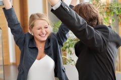 Coppie felici di affari Fotografia Stock Libera da Diritti