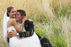 Coppie felici di cerimonia nuziale Fotografie Stock