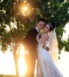 Coppie felici di cerimonia nuziale Fotografia Stock
