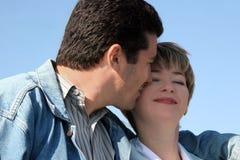 Coppie felici nell'amore fotografie stock libere da diritti