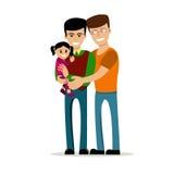 Coppie gay con i bambini Fotografia Stock Libera da Diritti