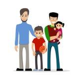 Coppie gay con i bambini Fotografia Stock