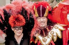 Coppie gay elaborato vestite Immagine Stock Libera da Diritti