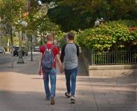 Coppie gay nella città Fotografia Stock Libera da Diritti